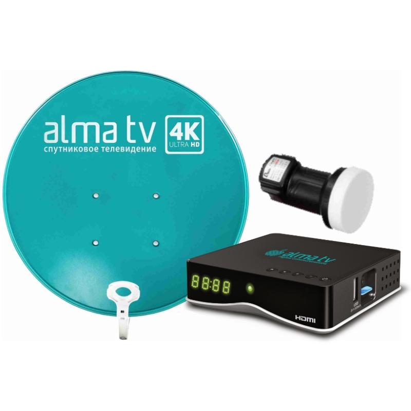 Комплект для ТВ Alma TV Приставка, Конвертер и Антенна (90 см)