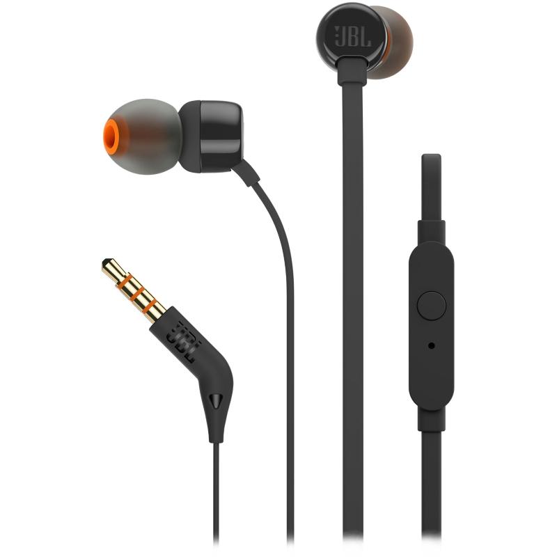 Наушники Вставные с Микрофоном JBL JBLT110 Black