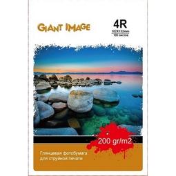 Фотобумага Giant Image GI-4R200100G 10x15см