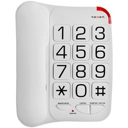 Проводной телефон Texet ТХ-201 White