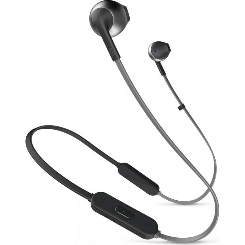 Наушники Вставные с Микрофоном JBL Bluetooth JBLT205BT Black