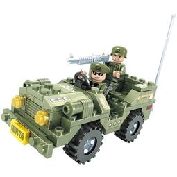 Конструктор Ausini Военный внедорожник 22404