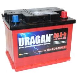 Автомобильный аккумулятор Uragan 6СТ-60 АПЗ о.п