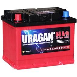 Автомобильный аккумулятор Uragan 6СТ-60 АПЗ п.п