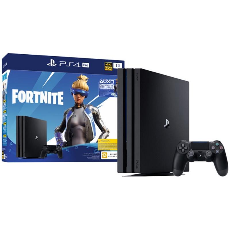 Игровая приставка Sony Playstation 4 Pro + Fortnite Voucher