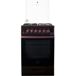 Комбинированная плита Greta 1470 ГЭ Brown