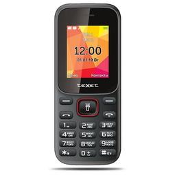 Мобильный телефон Texet TM-124 Black/Red