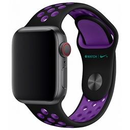 Ремешок для Smart часов Apple Nike Sport Band/S/M и M/L Для Apple Watch 40mm (MV7Y2ZM/A) Black/Hyper Grape