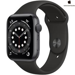Smart часы Apple Watch Series 6 44mm Space Gray Aluminium Case with Black Sport Band