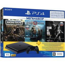 Игровая приставка Sony PlayStation 4 1TB + Days Gone + God Of War + The Last of Us Remastered/Одни из нас