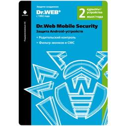 Антивирус Dr.Web Защита Android-Устройств нa 24 Месяца для 2 Мобильных Устройств  (LHM-AA-24M-2-A3)