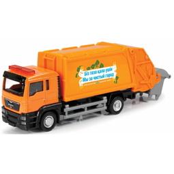 Игрушечная машинка Ideal 038021RU Man Russian Garbage Truck