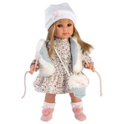 Кукла Llorens: Кукла Елена 35См, Блондинка В Белом Меховом Жилете