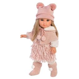 Кукла  Llorens: Кукла Елена 35См, Блондинка В Розовом Костюме И Шапке С Двумя Пумпонами