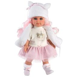 Кукла Llorens: Кукла Елена 35См Розовые Волосы