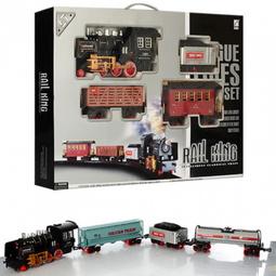 Набор игрушек Rail King: Ретро Поезд (3 ВАГОНА) Серия A