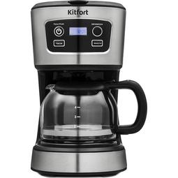 Кофеварка Kitfort KT-738 Black/Steel