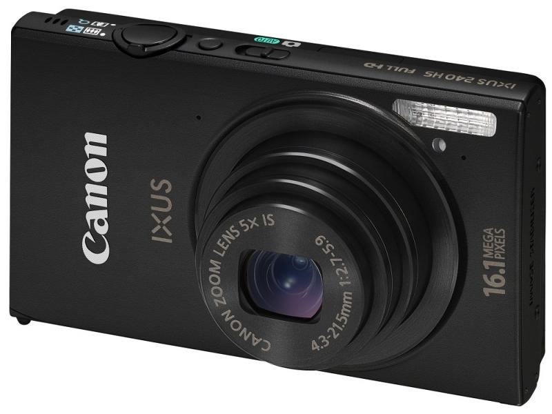 Цифровой фотоаппарат Canon Digital IXUS 240 HS black