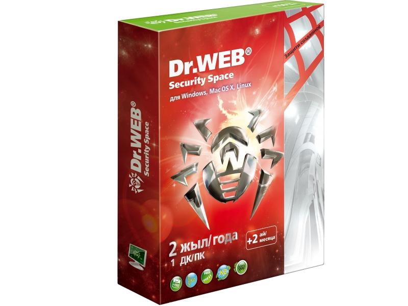 Антивирус Dr.WEB Security Space  Pro Silver Beeline (подписка на 24 месяца)