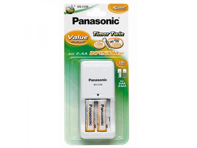 Зарядное устройство Panasonic BQ-CC06/1KA+2P03I800
