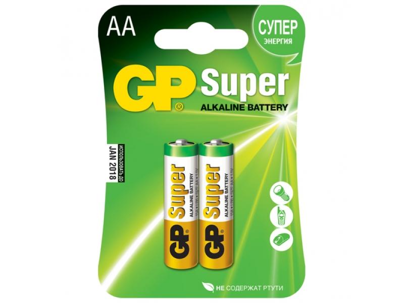 Элемент питания GP Super Alkaline LR6/15A-CR2