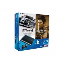 Игровая приставка Sony Playstation 3 Superslim 500GB+Gran Turismo 5+Uncharted 3