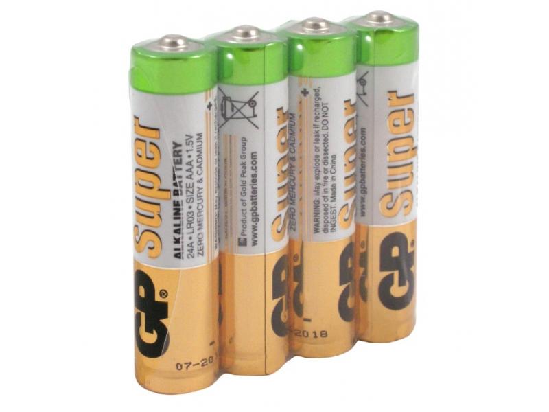 Элемент питания GP Super Alkaline LR03/24ARS-2SB4
