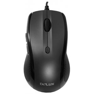 Мышь Delux DLM-528OUQ 5D Black/Gray