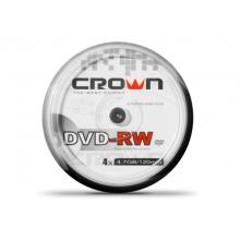 CD/DVD/BluRay диски Crown DVD-RW 10 штук