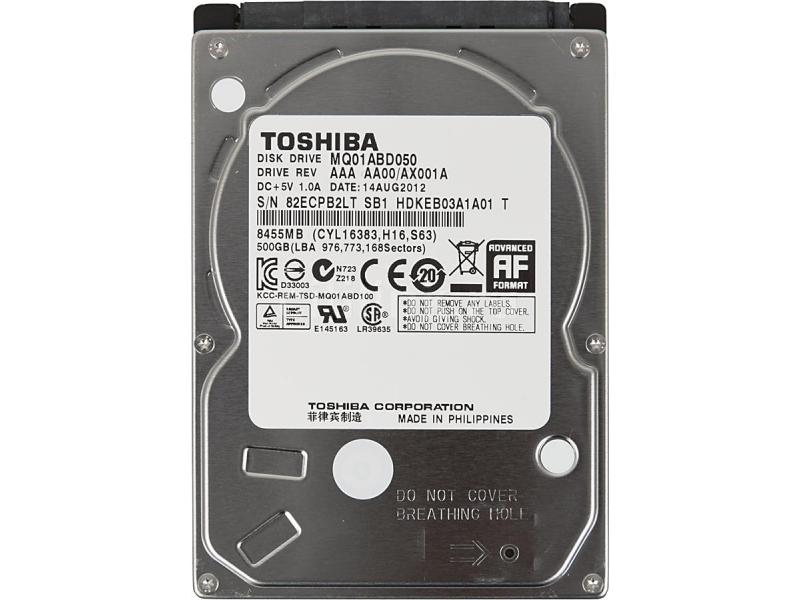 HDD диск TOSHIBA MQ01ABD050