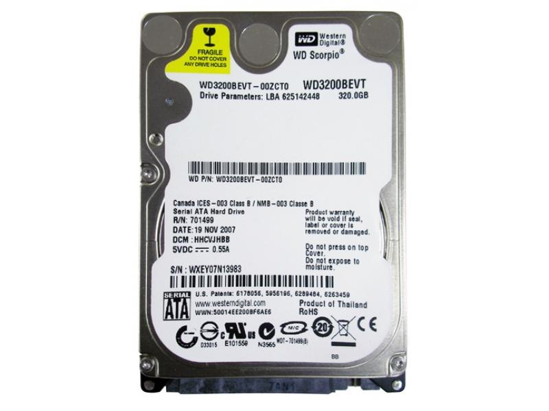 HDD диск Western Digital Scorpio