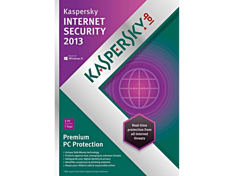 Антивирус Kaspersky Internet Security 2013 (продление подписки на 1 год)