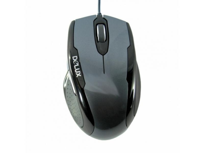 Мышь Delux DLM-520BT black-gray