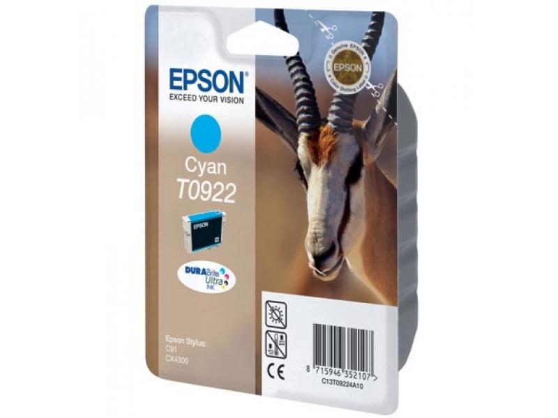 Картридж Epson T0922 Cyan
