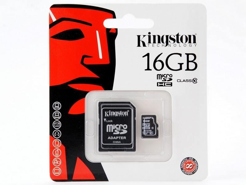 Карта памяти Kingston SDC10/16GB