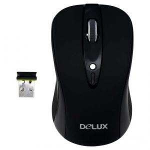 Мышь Delux DLM-483LGB Wireless Black