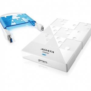 Внешний жесткий диск A-Data AHV610-1TU3-CWHBL White