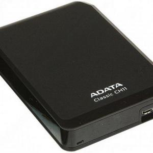 Внешний жесткий диск AData ACH11-750GU3-CBK Black