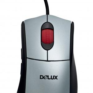 Мышь Delux DLM-505LU Black/Silver