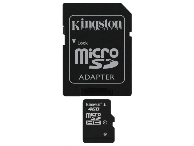 Карта памяти Kingston SDC10/4Gb