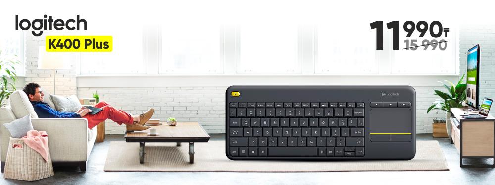 Logitech® Wireless Touch Keyboard K400 Plus